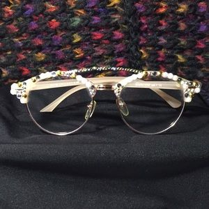 Handmade Gem Encrusted Personality Glasses